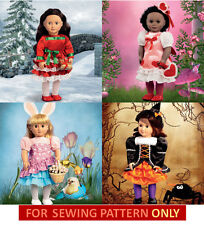 SEWING PATTERN! MAKE HOLIDAY DOLL CLOTHES! FITS AMERICAN GIRL JULIE~SAIGE~KANANI