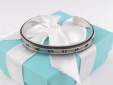 Tiffany & Co Silver Titanium Atlas Midnight Cuff Box Included