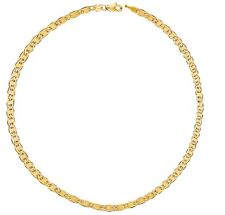 "14k Real Yellow Gold Mariner Chain Anklet Ankle Bracelet 10"" 1.7mm"