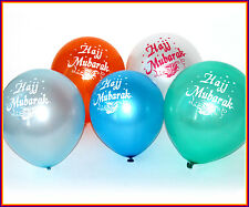 HAJJ MUBARAK BALLOONS (25 PACK) Islamic/Muslim Gifts Party Decoration Mix Color
