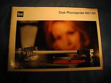 Dual-Phonogerate 1967/68 turntable stereo full product line brochure catalogue