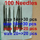 100 Home Sewing Machine Thread Needles Size 14 16 18 20 Kits Craft for Singer