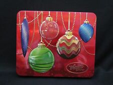 Whitman's HOLIDAY CHRISTMAS ORNAMENTS Metal Candy Tin Box Container EMPTY