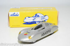 SOLIDO REEDITION 113 FIAT ABARTH SILVER GREY MINT BOXED