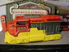 2016 Matchbox HEAVY RAILER☆Red/Yellow Freighter Locomotive Train☆New LOOSE☆