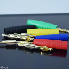 1set 5 colors Gold Plated Copper 4mm Banana Male Plug Test DIY Solder Connector