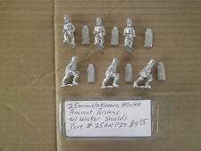 25mm Unknown Make  Ancient Persians with Wicker Shields