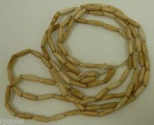 25 BUFFALO THIN Bone Horn Hairpipe ANTIQUED BEADS 1/2 inch Native Craft Regalia