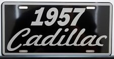 1957 57 CADILLAC METAL LICENSE PLATE ELDORADO COUPE DE VILLE SEDAN BIARRITZ