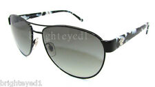 Authentic VERSACE Black Aviator Sunglasses VE 2145 - 100911 *NEW*