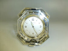 ANTIQUE TIFFANY & CO CLOCK SOLID STERLING SILVER CASE (WATCH THE VIDEO)