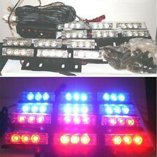 Car Strobe Lights 36 LED Flash Warning Light Police Auto Grille Lights Red Blue