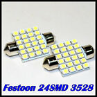 CAR 12V LED 36MM FESTOON INTERIOR WHITE LIGHT BULB 3528/1210SMD AUTO DOME GLOBE