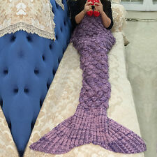 Adult/Kids Mermaid Fancy Dress Women Girl Princess Fish Fin Tail Cosplay Costume