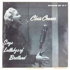 CHRIS CONNOR: Sings Lullabys of Birdland BETHLEHEM Jazz 45 EP Near Mint!