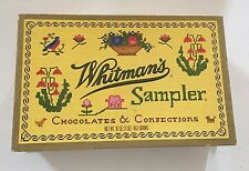 Whitmans Sampler Design Vintage Hinged Chocolates Confection Candy Box One Pound