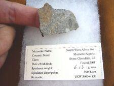 (x50-1) 6 g Africa meteorite rock mineral 2000 #869 North West African specimen