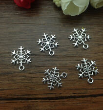 "Wholesale 16pcs Tibet silver Snowflake Charm Pendant beaded Jewelry Findings ""B4"