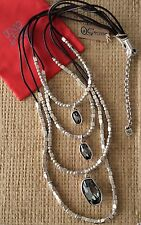 "NWT UNO DE 50 SILVER NECKLACE ""AND YES"" COL0813HUMMTL0 C:SMOKE $529"
