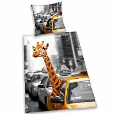 New York City Taxi Cab & Giraffe Duvet Cover Set (FREE P+P) NYC