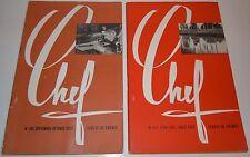 Lot 6 revues scout LE CHEF de 1957 à 1959 scouts de France 24 x 15,5 cm