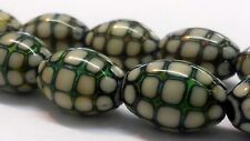 Ocean-Pearl Mood / Mirage Beads STRAND of 10 BEADS 11x18mm - 3mm hole