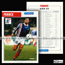 FRANCE EQUIPE / TEAM (Photo : ZINEDINE ZIDANE) - Fiche Football 1996