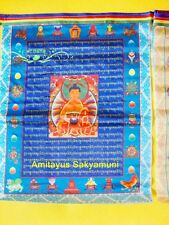 Wholesale Colorful Flag Buddhist Prayer Flag 10 Pieces Figure of Buddha Sutras