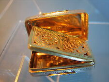 Georgian solid silver vinaigrette  bright gilt  unusual pierced grill date 1817