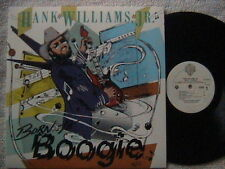 """HANK WILLIAMS JR. """"BORN TO BOOGIE"""" LP 1987 STEVE EARLE OUTLAW COUNTRY"""