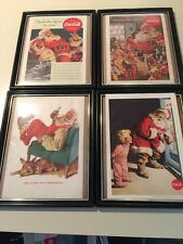 Four Vintage Coca Cola  SANTA CHRISTMAS Ads