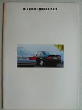 Prospekt BMW Turbodiesel (325td, 525tds, 525tds Touring), 2.1992, 40 Seiten