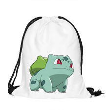 Pokemon Go Unisex Swimming Drawstring Backpack Tote Sack Bags Sport Pack Bookbag