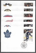 2016 NHL Hockey Great Canadian Forwards Limited FDCs with Souvenir Sheets $1.80