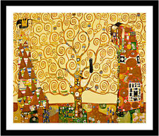 The Tree of Life by Gustav Klimt 75cm x 62cm Framed Black