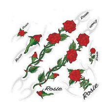 BICYCLE CUSTOM STICKER RED ROSE BEACH CRUISER LOWRIDER CHOPPER BMX MTB FIXED