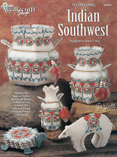 Indian Southwest ~ Vases Coasters & More plastic canvas patterns OOP new RARE