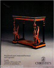 Catalogue Christie's Mobilier Meuble Français du XVIIIe XIXe siecle Empire