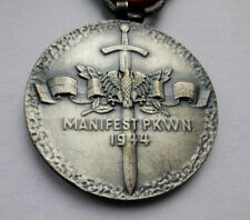 Polish OLD ARMY Medal - defender of communism authority in Poland 1944 & BOX DOC
