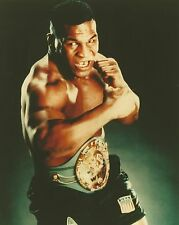 MIKE TYSON 8X10 PHOTO BOXING PICTURE WITH BELT