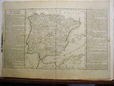 España.Mapa original con color. s XVIII