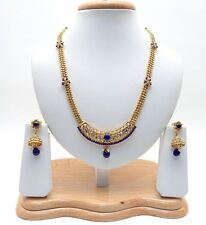 New Indian Asian Bridal Traditional Jewellery Ethnic Wear Polki Necklace Set
