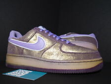 2007 Nike Air Force 1 Premium '07 AUBERGINE PURPLE GOLD ORCHID MIST NEW 11.5 10
