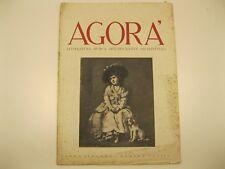 Agora' rivista, numero 11, 1946, architettura, Carlo Mollino