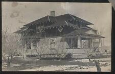 RP POSTCARD MONTROSE CO/COLORADO B.H.N. FAMILY LARGE 2 STORY HOME/HOUSE 1910'S