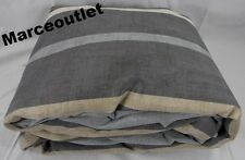 Hotel Collection Colonnade 100% Cotton FULL / QUEEN Duvet Cover Gray
