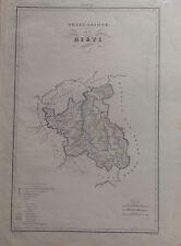 DELEGAZIONE DI RIETI LAZIO CARTA GEOGRAFICA 1840 ZUCCAGNI ORLANDINI