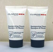 Clarins Men Shampoo & Shower (Hair & Body)  - 2 x 30ml - Unboxed