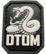 DTOM DON'T TREAD ON ME PVC TEA PARTY SNAKE ARMY MORALE SWAT VELCRO® BRAND PATCH