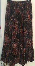 "WOW! NEW Tags RARE Free People ""Rising Sun"" black floral maxi skirt sz 4 $148"